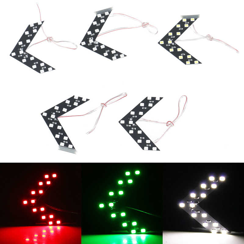 1pc 14 SMD LED Arrow Panel For Car Rear View Mirror Indicator Turn Signal Lamp Car LED Rearview Mirror Light for Ford volvo