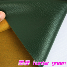 Hunter Green Big Lychee Pattern PU Synthetic Leather Faux Leather Fabric Upholstery Car Interior Sofa Cover  54″ Wide Per yard