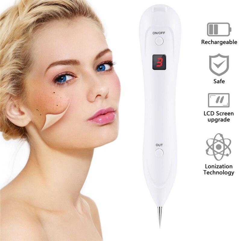 LED 6 Nivel láser peca eliminación piel Mole eliminación manchas oscuras para cara Wart Tag eliminación pluma salón belleza de la cara
