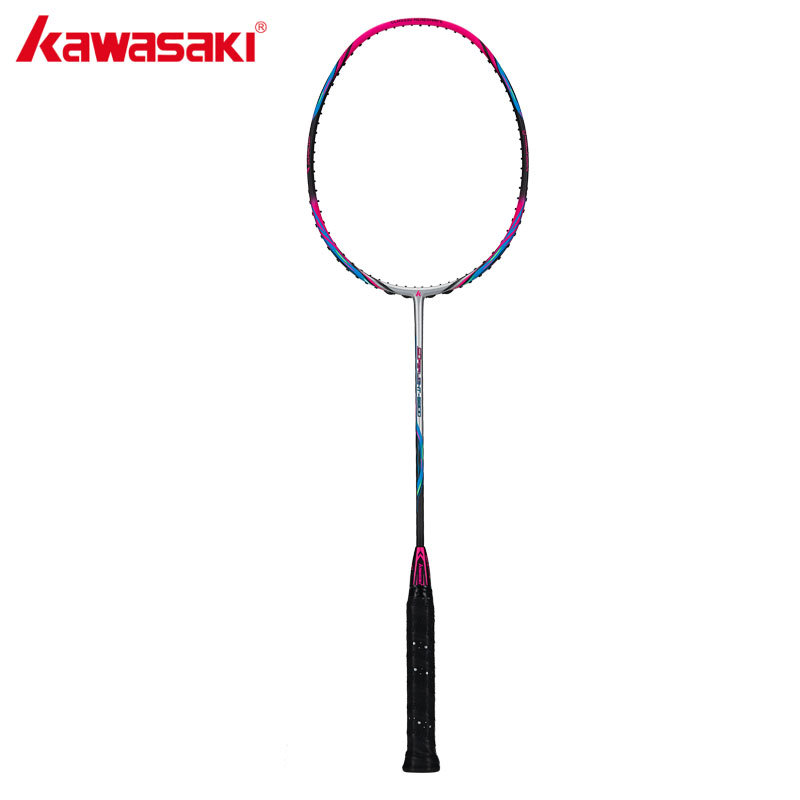 Kawasaki Brand 2018 Attack Type Badminton Rackets 6U Carbon Firber Badminton Racquet For Intermediate Players Super Light 6800 kawasaki original badminton racket offensive type 18 30lbs graphite fiber badminton racquet for junior players firefox 570 sd