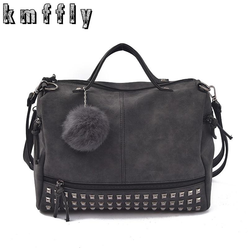 KMFFLY Women Bags Rivet Clutch Tassel One-Shoulder Large-Capacity Famous Designer Portable