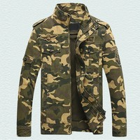 China Imported Camouflage Mens Jacket Coats Super Quality Mens Army Jacket Male Tactical Overcoat Casual Men Flight Jacket S2274