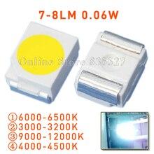 20,000 PÇS/LOTE 1210 3528 SMD LED super bright higt natureza/quente/frio white light emitting diodes 7 8LM grânulo da lâmpada s