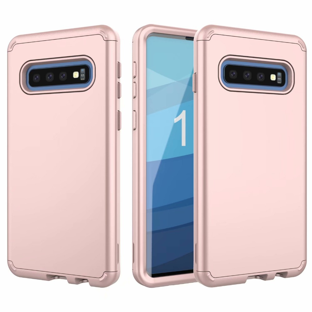 360 Full Shockproof Armor Phone Case For Samsung Galaxy S10 S10 Plus S10e Hybrid PC TPU