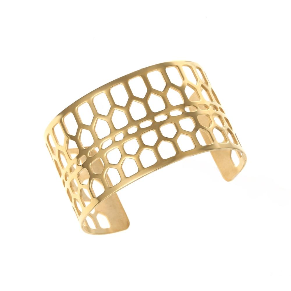 Legenstar Stainless Steel Opening Bangle Bee Neck Cuff Bracelet for Women Labyrinth Interchangeable Leather Bijoux Bracelet