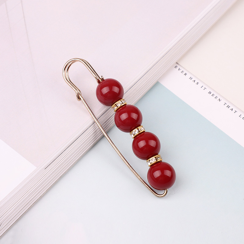 19 High Quality Vintage Gold Brooch Pins Double Head Simulation Pearl Large Big Brooches For Women Wedding Jewelry Accessories 39