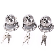 Male Chastity Cage With Removable Urethral Sounds Spiked Ring Stainless Steel Chastity Device Cock Belt Party hot sale 40/45/50m(China)