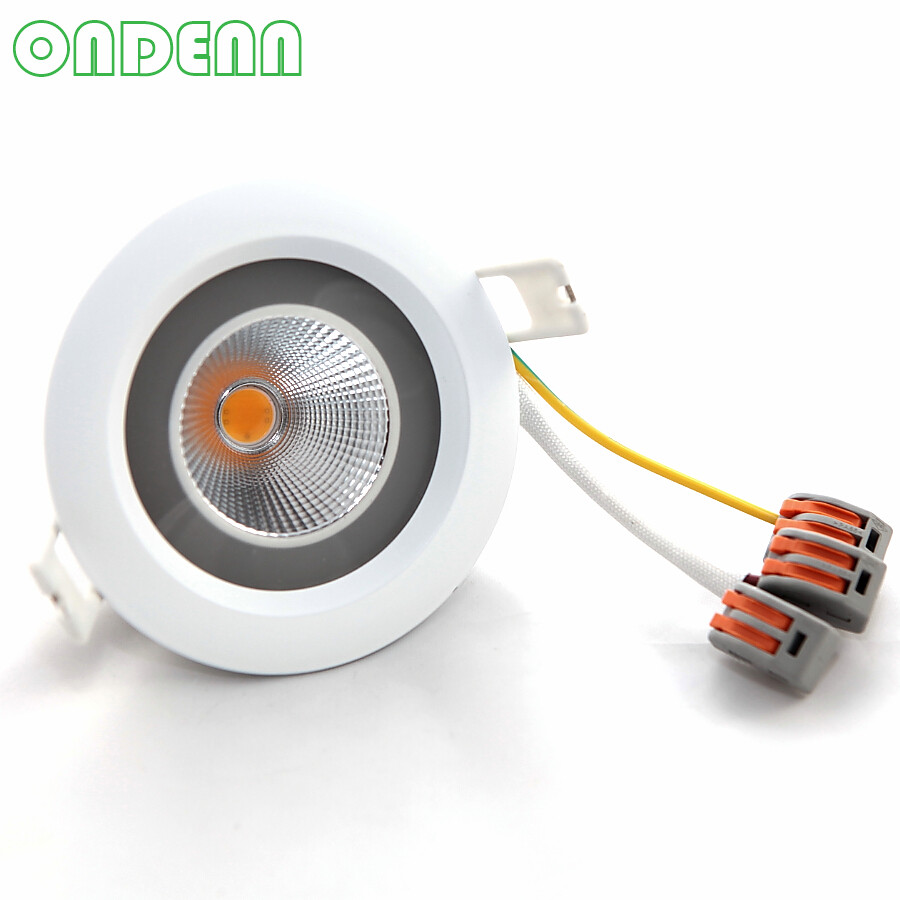 Led Downlights Lights & Lighting Dimmable 12w Led Downlights Ac220v-240v Driverless Led Ceiling Lamp Spot Light Free Shipping 3 Years Warranty 12pcs/lot