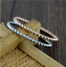 titanium steel twist small little finger ring jewelry party jewelry wedding rings Bride Wedding ring Size 5-9 Valentine gift