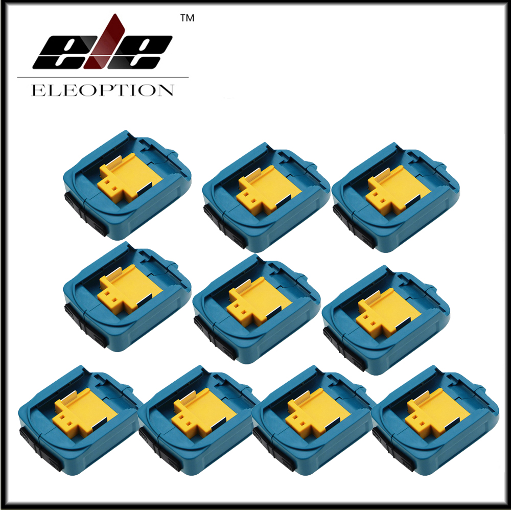 10x Wholesale USB Power Charger Adapter Converter And Devices Charger Compatible For Makita <font><b>18V</b></font> 14.4V Lithium-Ion Battery image