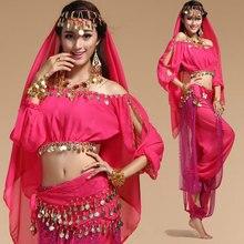 Bollywood Costumes de danse du ventre indien Costumes pour femmes mousseline de soie Bollywood Orientale danse du ventre ensemble de Costumes pour femme