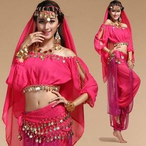 Image 1 - בוליווד הודי ריקוד תלבושות סט לנשים שיפון בוליווד Orientale בטן ריקוד תלבושות סט לאישה