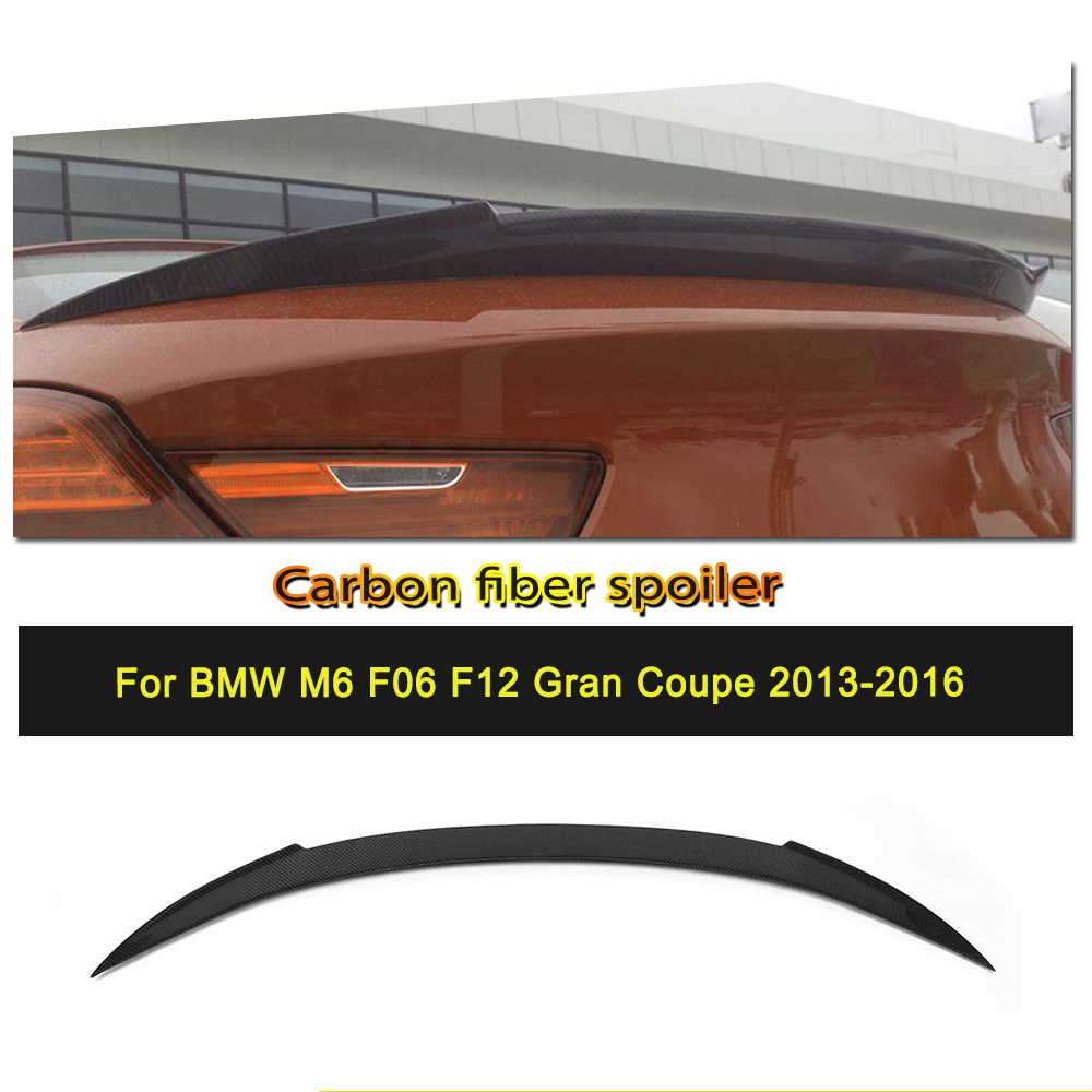 Car Styling Carbon Fiber Trunk Rear Spoiler Wing For BMW 6