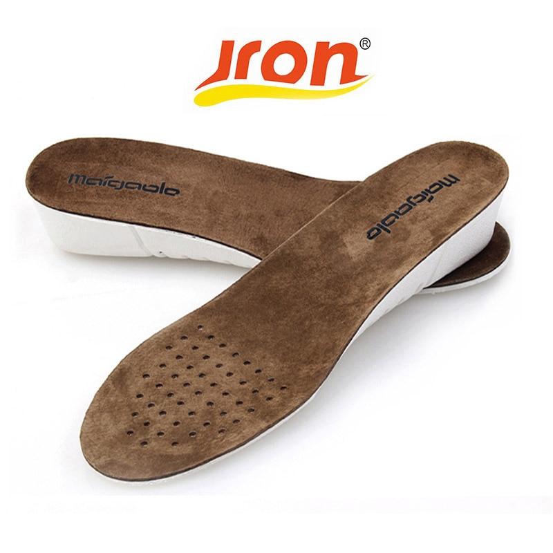 3 CM augstuma palielināšana zolītes Mīkstie apavu paliktņi dezodoranti absorbē sviedru sporta apavu spilventiņi Cowskin ādas pēdu ortopēdiskie zolītes