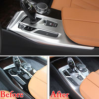 ABS Car Interior Console Gear Shift Box Panel Cover Trim Interior Mouldings For BMW 5 Series G30 2018 Accessories Car Styling