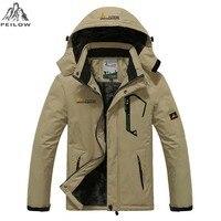 PEILOW Plus size 5XL,6XL outwear winter coat men and women`s thicken waterproof fleece warm cotton parka coat men jacket