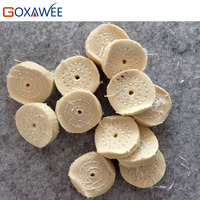 GOXAWEE 100pcs White Buffing Wheels for Bench Grinder Buffing Polishing Wheel Cotton Cloth Wheels Polishing Buffs Abrasive Tools