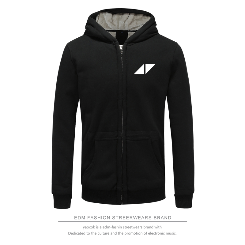 2017 Avicii Kpop DJ Winter Hoodies Clothes Zipper Cap Hoodies Men/Women Thick Warm Sweatshirt Plus Size Avicii DIY Printing