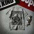 Nuevo 2017 verano 100% poliéster de manga corta camiseta hombres de la moda palacio de impresión t camisa de los hombres tamaño m-5xl 2-colores hombres Camisetas DTX5