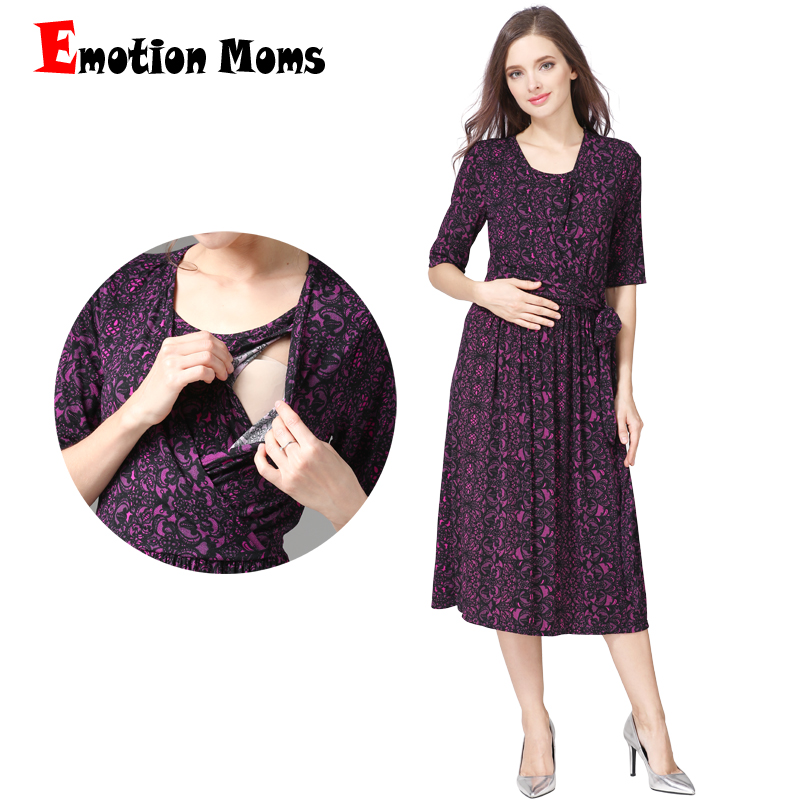 Emotion Moms New V-Neck Party Maternity Dress Nursing Dress Breastfeeding Dresses for Pregnant Women Pregnancy maternity clothes emotion moms new turtleneck maternity clothes nursing dress breastfeeding pregnancy clothes for pregnant women maternity dresses