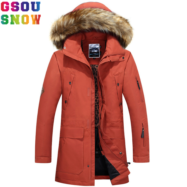 963749cba3 GSOU SNOW Brand Ski Jacket Men Snowboard Jacket Winter Waterproof Windproof  Outdoor Sport Ski Wear Male Skiing Suits Snow Coat