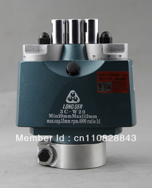 Long ger wodoworking boring head 3 spindle linear boring head for woodworking door lock drilling machine adjustable boring head