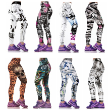 FIERCE BABY 3D Print Women Sports Fitness Leggings Yoga Pants Elastic Compression Tights Fitness Female Running gym Pants