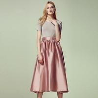 Customize Women's Satin Pleated Long Party Skirt High Waist Ladies 3xs 10xl Long Skirts Saias