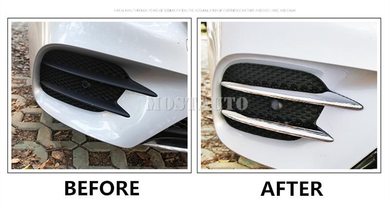 Benz E класы үшін W213 S213 ABS Chrome алдыңғы - Автокөліктің ішкі керек-жарақтары - фото 4