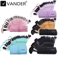 Vander Hot 32Pcs Professional Soft Cosmetic Makeup Eyeshadow Eyeliner Lip Powder Blush Brush Set Kit