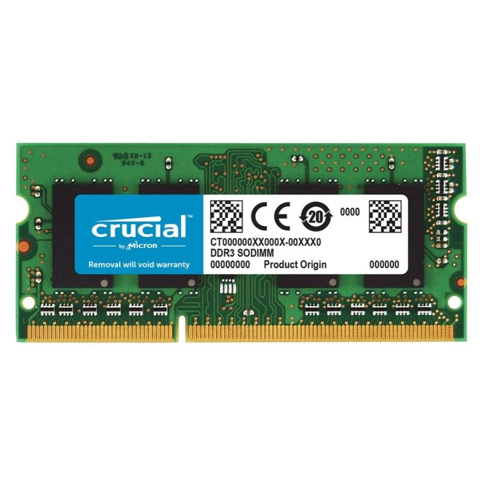 Crucial 8 GB DDR3-1333 SO-DIMM CL9, 8 GB, 1x8 GB, DDR3, 1333 MHz, SO-DIMM 204 broches