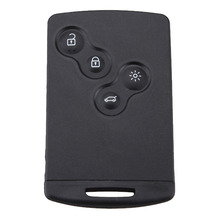 4 Buttons Remote Refit Smart Card Black Key Case For Renault Laguna Koleos Replacement Smart Card Refit Key Fob Shell Cover цена 2017