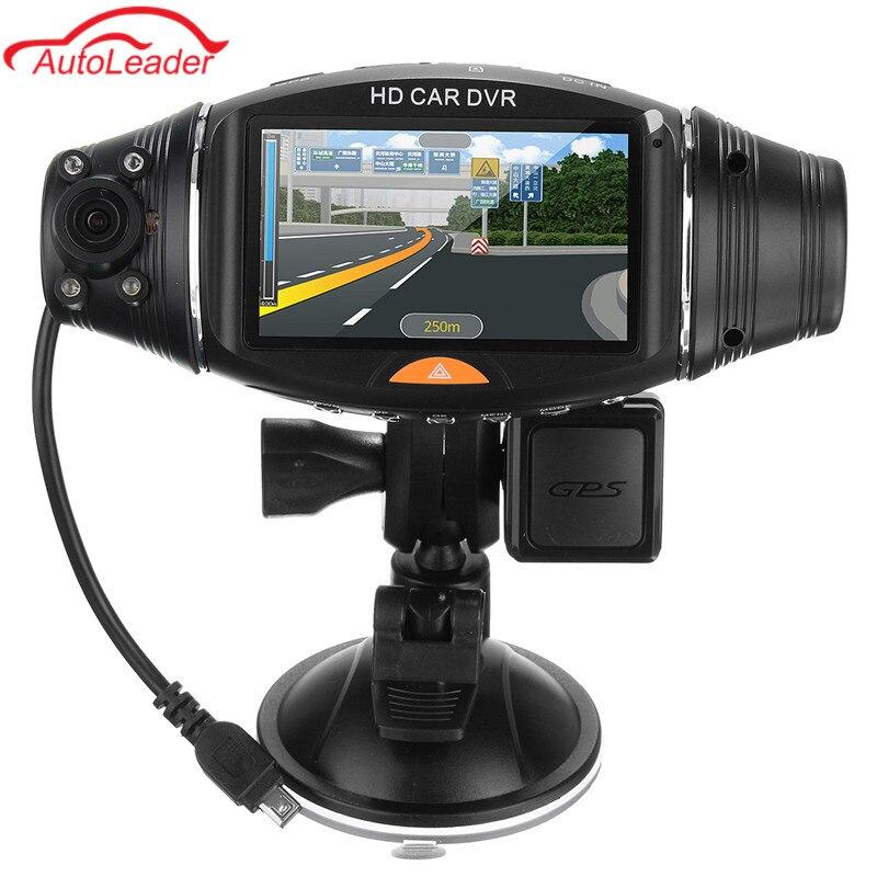 Dash Cam Car DVR Full HD Car Camera DVR Video Recorder Dual Lens 2.7 LCD Display HD 1080P Portable Camera With G-sensor GPS 1080p full hd car dvr lcd hdmi camera video recorder dash cam g sensor
