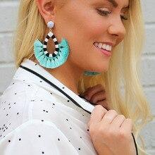 Good quality cotton tassel earrings