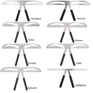 Image 2 - Microblading الحاجب التوازن حاكم المعادن الوشم تشكيل Stencil تجميل دائم الفرجار الحاجب حاكم