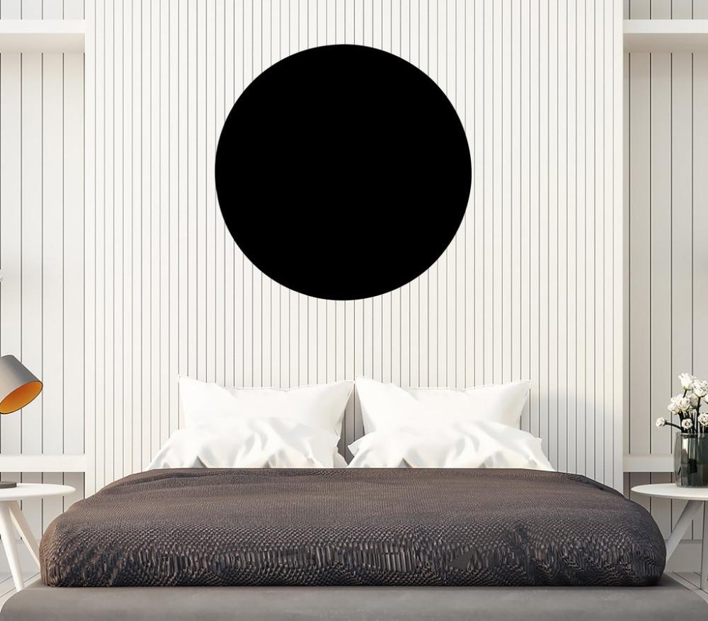 US $6.97 25% OFF Schwarz Kreis Wandtattoo Schlafzimmer Wasserdichte  Wandaufkleber Mandala Meditation Studio Decor Selbstklebende Wand aufkleber  kunst ...