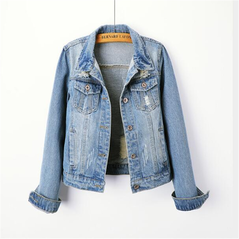 2018 Plus Size 5XL Denim   Jacket   Women Boyfriend Jean Coat Streetwear Harajuku Vintage Autumn   Basic   Outerwear