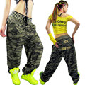Large Pocket Camouflage Casual Pants Female Loose Hiphop Trousers Fashion Jazz Dancer Costume Pants