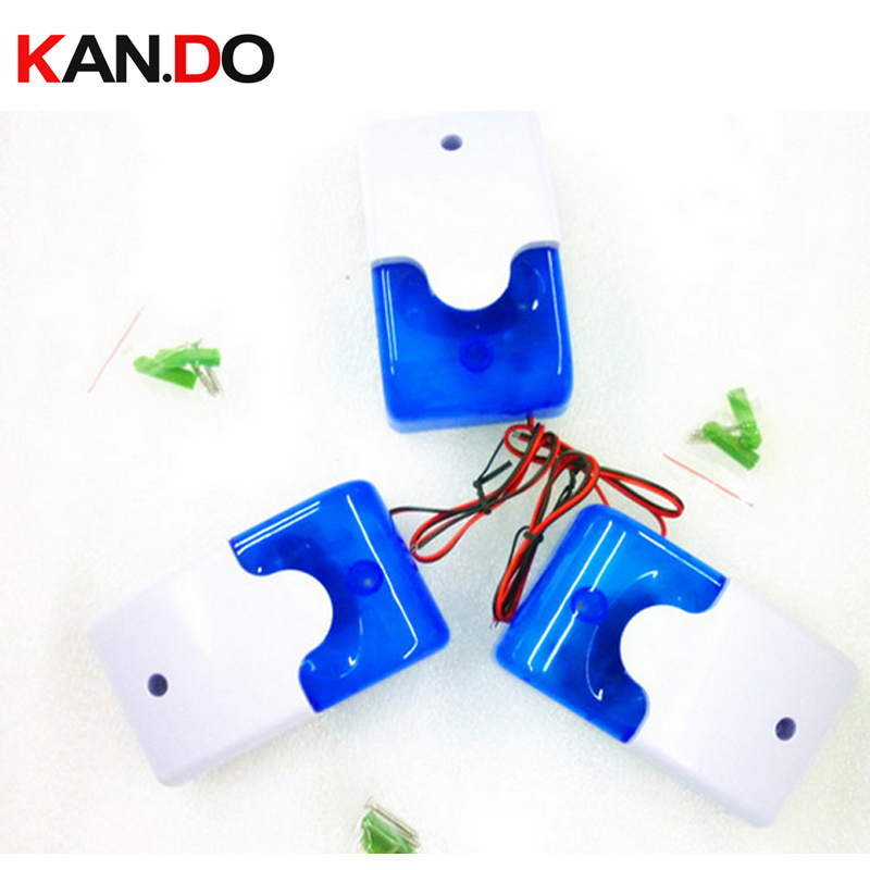 For A680 blue Wired Indoor Siren Wired Mini Siren with Flash Light for House font b