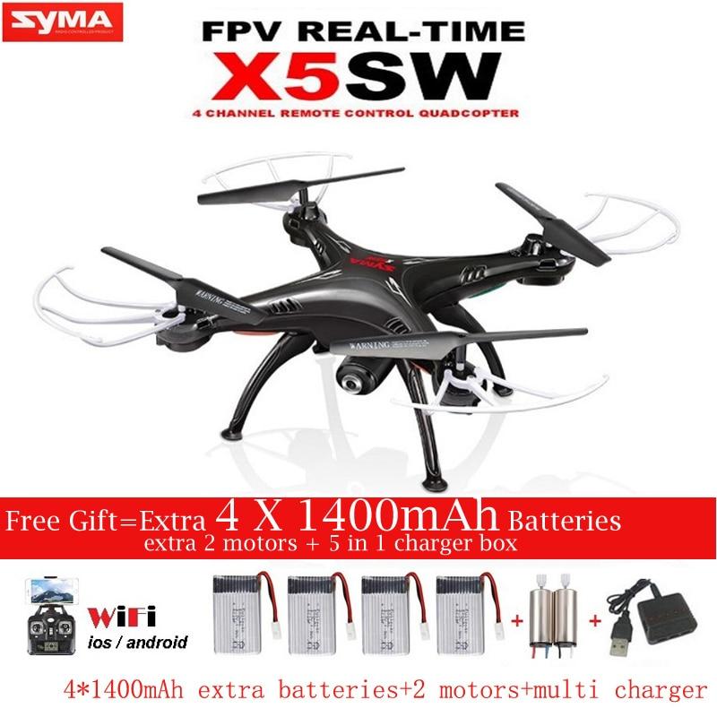 SYMA X5SW X5SW-1 FPV RC Drone 2.4G-Axis Quadcopter Con La Macchina Fotografica di WiFi in Tempo Reale Video Remote Control Helicopter Quadrocopter