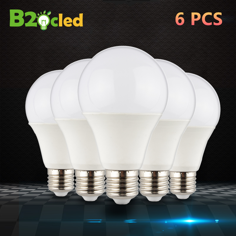 6PCS LED bulb lamps E27 3W 5W 7W 9W 12W 15W 220V Lampada bombillas Ampoule home lighting for table lamp living room bedroom