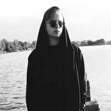 Men's Cloak Hooded Plus Size Black Male Streetwear Sweatshirts Hip Hop Spring Full Sleeves Clothing Hoodies
