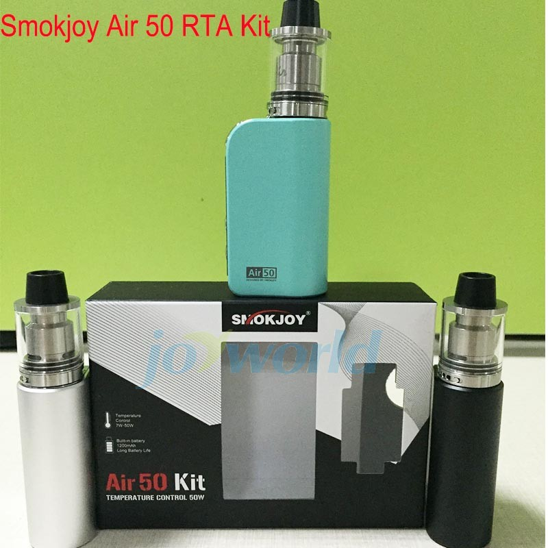 100% Original Electronic Cigarette Smokjoy Air 50 RTA Kit with Air 50w TC mod Mini Atomizer vaporizer vs kanger evod mega kit YY (11)