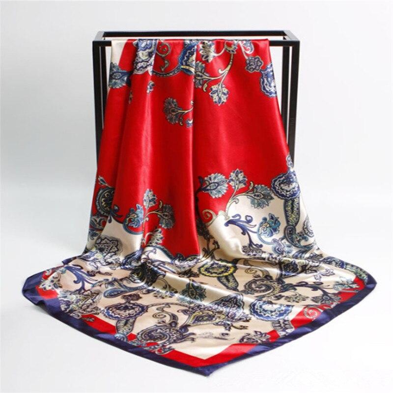 Bufanda de seda 90cmX90cm de las mujeres Marca de lujo Bufanda rosada - Accesorios para la ropa - foto 5