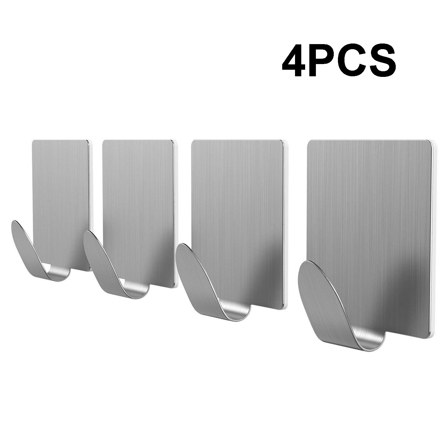 HTB1pFG LmzqK1RjSZFjq6zlCFXa1 - 4pcs Brushed Stainless Steel Wall Hook Kitchen SelfAdhesive Hooks For Hanging Tools Suction Cup Coat Hanger Bathroom Accessories