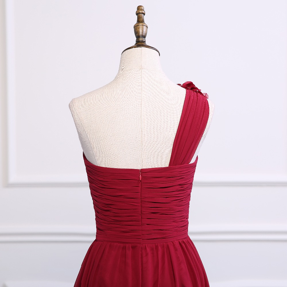 ced3729e2a4 ruthshen Wine Red Bridesmaid Dress Cheap One Shoulder Long Bridesmaid  Dresses Navy Blue   Purple Wedding Guest Dress-in Bridesmaid Dresses from  Weddings ...