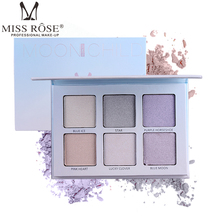 Brand MISS ROSE 6 color highlighter white concealer cheeks enhance profile makeup box beauty