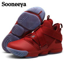 new arrivals 42046 99f64 New Brand Men Basketball Shoes Luxury Air Damping Red Black Sports Sneakers  High Top Breathable