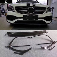 Hot W117 CLA260 CLA45 Carbon Fiber Front Bumper lip Air Vent Decoration Modelling Trim for Mercedes Benz W117 C117 CLA 13 15