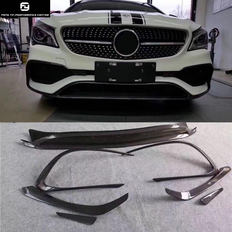 Hot W117 CLA260 CLA45 fibre de carbone avant pare-chocs lèvre évent décoration modélisation garniture pour Mercedes Benz W117 C117 CLA 13-15